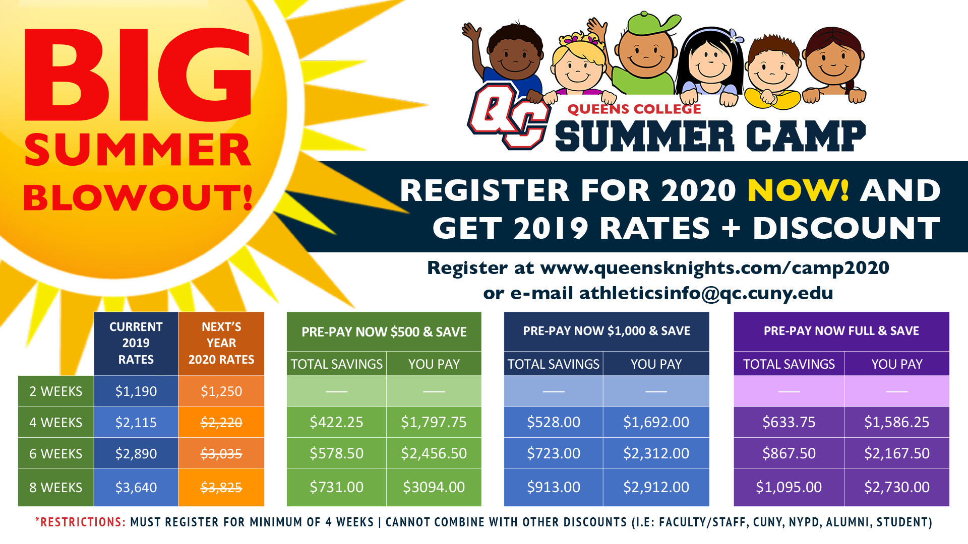 Cuny Calendar Summer 2020.Register For 2020 Summer Camp Today At 2019 Prices Queens